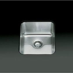 """KOHLER - KOHLER K-3331-NA Undertone Medium Squared Undercounter Kitchen Sink, 7-1/2"""" Deep - KOHLER K-3331-NA Undertone Medium Squared Undercounter Kitchen Sink, 7-1/2"""" Deep"""