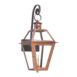 ELK - Elk Lighting 7935-WP Outdoor Gas Shepherd's Scroll Wall Lantern - Outdoor Gas Shepherd's Scroll Wall Lantern Grande Isle Collection In Solid Brass With AnAged CopperFinish.