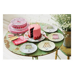 Rosanna - Set Of Four Scalloped Dessert Plates - Happy moments off all sorts provide the perfect opportunity to use these dishes decorated with sweet designs. Whether your celebrating a birthday, or a completing a hearty meal....There is always room for dessert! * Gift Boxed * Set of 4 assorted scalloped dessert plates * Made of refined porcelain, * Microwave and dishwasher safe * Diameter: 8""