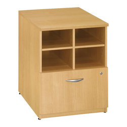 "BBF - Bush Series C 24""W Storage Unit in Light Oak Finish - Bush - Storage Cabinets - WC60304 - From private offices to workstations Series C configures in dozens of ways giving you the flexibility to design your workspace in the way that best suits your working style."