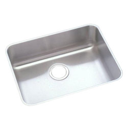 """Elkay - Elkay ELUHAD211555  Lustertone Undermount Sink - Elkay's ELUHAD211555 is a Lustertone Undermount Sink. This single-bowl sink is constructed of 18-gauge type 304 nickel bearing stainless steel, and can be mounted under almost any surface. It features a 5-1/2"""" bowl depth, and a 3-1/2"""" drain opening."""