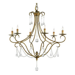Currey and Company - Agostina Chandelier - The perfect proportions of this beautiful form are augmented by a sparing use of crystal ornamentation. This chandelier satisfies both the traditional and the contemporary.