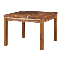 "Artemano - Basant Dining Table Made of Suar Wood , 40"" L X 40"" W X 30"" H - The luxurious Basant table, with its quality detailing and craftsmanship, is a solid wood table with stunning beauty.  Available in eight sizes, this classic dining table is constructed with quality exotic suar wood.  Each has its own unique cracks, knots and markings, making each one different from the other. Elegant, unique and exotic, the Basant table is a great conversation piece!"