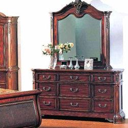 Yuan Tai Furniture - Tipton Dresser and Mirror - TI5927DR-M - Set includes Dresser and Mirror