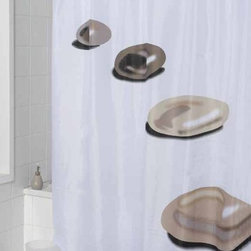 Pure Relaxation stones Fabric Shower Curtain - The shower curtain is made from good quality Fabric Polyester with special process.It's excellent water resistance,good handfeeling and easy to use it.It will prettify your life with it's colorful design and make your life healthy as well as joyful.