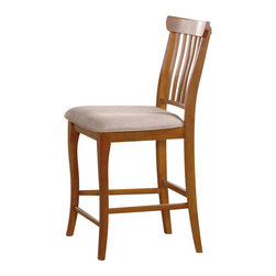 Atlantic Furniture - Atlantic Furniture Venetian Oatmeal Fabric Pub Chair (Set of 2)-Caramel Latte - Atlantic Furniture - Dining Chairs - AD775207 - The Atlantic Furniture Venetian Pub Chairs are constructed from Eco-friendly solid hardwood and have an elegant wood finish. This set of two pub chairs feature a vertical slat back design and an Oatmeal colored seat cushion. The Venetian Pub Chairs are perfect for a casual dining room setting.