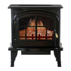 Yosemite Home Decor - Clovis - Free standing electric fireplace with the look and warming of a wood stove.  The front blower can heat up to 220 square feet and the ease of use makes this an extremely versatile option for zone heating. The realistic flame gives you the feel of a traditional fireplace.  Independent heat and flame controls allow for year round enjoyment.  Included remote control increase the ease of use.  Built in safety features turn the unit off should it be tipped over so you can rest peacefully knowing youre in good hands with Yosemite Home Decor.