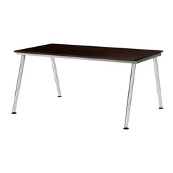 IKEA of Sweden/Olle Lundberg - GALANT Desk - Desk, black-brown, chrome plated