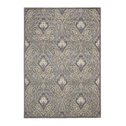 Nourison - Nourison Graphic Illusions Gil11 Grey Area Rug - The highly sophisticated and beautiful designs found in the Nourison Graphic Illusions rug collection are excellent for bringing elegant touches to any room. With a color palette ranging from deep tones to light shades ensure the Graphic Illusions rugs do not fail to make a strong statement wherever they are placed. Each rug is individually hand carved to emphasize its texture creating a stunning elegance in this collection that will not go unnoticed in any room of the house.