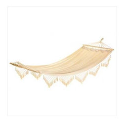 Cape Cod Canvas Hammock 13000 - I'd love to have this pretty lace hammock hanging in the house.