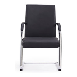 White Line Imports - Clemson Visitor Office Chair in Black - Features:
