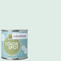 ColorSpot Eggshell Interior Paint Sample, Bisque .04, 8-oz - Test color before you paint with the Colorhouse Colorspot 8-oz  paint sample. Made with real paint and in our most popular eggshell finish, Colorhouse paints are 100% acrylic with NO VOCs (volatile organic compounds), NO toxic fumes/HAPs-free, NO reproductive toxins, and NO chemical solvents. Our artist-crafted colors are designed to be easy backdrops for living.