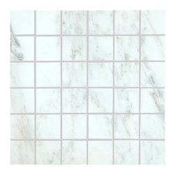 "Marbleville - MSI  Arabescato Carrara 2"" x 2"" Polished Marble Mosaic  in 12"" x 12"" Sheet - Premium Grade Arabescato Carrara 2"" x 2"" Polished Mesh-Mounted Marble Mosaic is a splendid Tile to add to your decor. Its aesthetically pleasing look can add great value to the any ambience. This Mosaic Tile is constructed from durable, selected natural stone Marble material. The tile is manufactured to a high standard, each tile is hand selected to ensure quality. It is perfect for any interior/exterior projects such as kitchen backsplash, bathroom flooring, shower surround, countertop, dining room, entryway, corridor, balcony, spa, pool, fountain, etc."