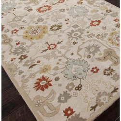 Jaipur Rugs - Jaipur Narratives Hugo Transitional Floral Pattern Wool Tufted Rug - RRC001019-0 - Shop for Rugs and Runners from Hayneedle.com! Bring a bit of character into your space with the Jaipur Narratives Hugo Transitional Floral Pattern Wool Tufted Rug. This beautiful rug is an easy way to bring style warmth and comfort to your floors. Hand-tufted of handspun wool this rug is easy to care for and durable. Vacuum regularly and clean up spills immediately by blotting then spot-cleaning with mild soap and cold water.About Jaipur RugsOne of the leading providers of hand-woven rugs from India Jaipur Rugs opened their United States-based plant in Atlanta in 1998. Founded on the ideals of visionary N.K. Chaudhary a rug maker with over 30 years' experience Jaipur features a team of over 30 designers and 40 000 skilled rug makers all of whom carry out the company's original dream of making high-quality outstanding rugs based on ancient traditions. Jaipur makes flat-woven hand-tufted and hand-knotted rugs that incorporate cutting-edge technologies and designs and real handspun fibers to bring you the ultimate in true Indian craftsmanship.