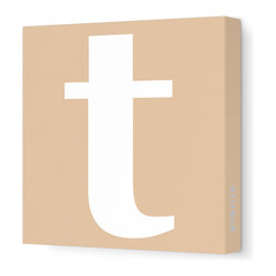 "Avalisa - Letter - Lower Case 't' Stretched Wall Art, 12"" x 12"", Light Brown - Spell it out loud. These lowercase letters on stretched canvas would look wonderful in a nursery touting your little one's name, but don't stop there; they could work most anywhere in the home you'd like to add some playful text to the walls. Mix and match colors for a truly fun feel or stick to one color for a more uniform look."