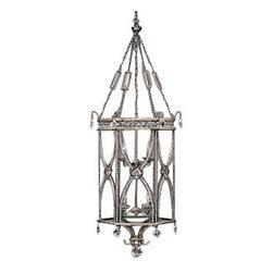 Fine Art Lamps - Fine Art Lamps 326540 Winter Palace Antiqued Silver Pendant - 8 Bulbs, Bulb Type: 60 Watt Candelabra; Weight: 25lbs