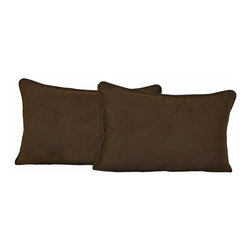 Blazing Needles LP - Blazing Needles 20 x 12 in. Twill Back Support Pillows with Cording - Set of 2 - - Shop for Pillows from Hayneedle.com! When you need a little extra cushion the Blazing Needles 20 x 12 in. Twill Back Support Pillows with Cording - Set of 2 is there for you with style. This back support cushion is made of soft and durable twill fabric. It comes in a variety of color options and features a cord trim. You get two matching pillows in this set.About Blazing NeedlesBlazing Needles L.P. specializes in the manufacture of cushions pillows and futons. As a sister company of International Caravan Inc. Blazing Needles provides a wide variety of cushions to fit the frames and furniture pieces made by International Caravan. In particular Blazing Needles' production of papasan cushions occupies a unique niche within their industry and sets them apart as a prime supplier for certain retailers. Other services they provide include contract filling sewing and import sourcing. The headquarters of International Caravan and Blazing Needles is located in Fort Worth Texas.