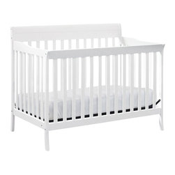 Da Vinci - Da Vinci Summit 4-in-1 Convertible Crib in White - Da Vinci - Cribs - M8101W