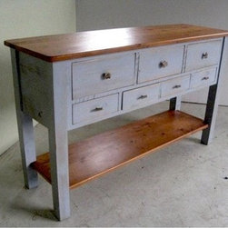 5ft Pine Sideboard Console Table - Made by http://www.ecustomfinishes.com