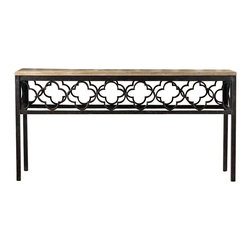Hooker Furniture - Hooker Furniture Melange Metal Pattern Cassara Console Table - Hooker Furniture - Console Tables - 63885083 -Come closer to Melange, and you will discover something unexpected, an eclectic blending of colors, textures and materials in a vibrant collection of one-of-a-kind artistic pieces.