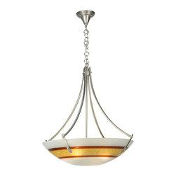"""Meyda Lighting - Meyda Lighting 111536 26""""W Saturno Fused Glass Inverted Pendant - Meyda Lighting 111536 26""""W Saturno Fused Glass Inverted Pendant"""