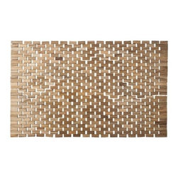 Threshold Raw Finish Wood Bath Mat - The natural wood grain in this bath mat is perfect for an outdoor, nature-inspired look. Its open construction is light, airy and reminiscent of the beach, yet it is still highly functional. It will be a welcome spot for your feet when stepping out from the bath.