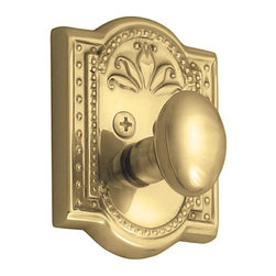 Nostalgic Warehouse - Nostalgic Meadows Deadbolt Keyed Differently in Unlacquered Brass (715120) - The Unlacquered brass Meadows Single Cylinder Deadbolt, with its intricate beaded detailing and botanical flourishes, creates an inspired design theme. Keyed alike. Made of solid (not plated) forged brass for durability and beauty.