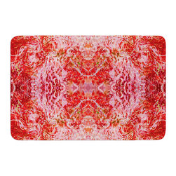 "KESS InHouse - Nikposium ""Chili"" Pink Red Memory Foam Bath Mat (17"" x 24"") - These super absorbent bath mats will add comfort and style to your bathroom. These memory foam mats will feel like you are in a spa every time you step out of the shower. Available in two sizes, 17"" x 24"" and 24"" x 36"", with a .5"" thickness and non skid backing, these will fit every style of bathroom. Add comfort like never before in front of your vanity, sink, bathtub, shower or even laundry room. Machine wash cold, gentle cycle, tumble dry low or lay flat to dry. Printed on single side."