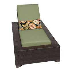 TKC - Kokomo Chaise Outdoor Wicker Patio Furniture 2 for 1 Cover Set, Green - The Kokomo Collection has a beautiful yet simple design. The Espresso all-weather wicker comes in rich tones of brown which gives it a warm and luxurious feel.
