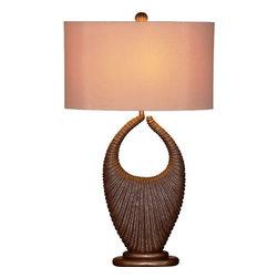 Bassett Mirror - Filberta Mineral Finish Table Lamp - Filberta Mineral Finish Table Lamp by Bassett Mirror