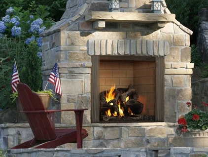 Traditional Patio by Heatilator Fireplaces
