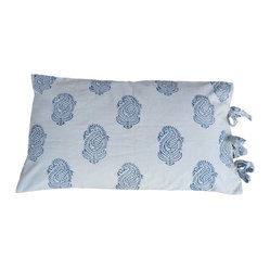 Alamwar - French Country Sham - Add this beautiful sham to your bedding and you'll evoke the sophisticated, yet relaxed feeling of the French countryside. The crisp white and blue design is easy to mix and match with complementary patterns in a similar palette. A pair of these will give you a serene place to lay your head at night.