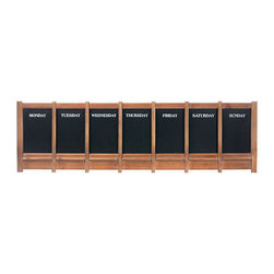 Weekly Planner Blackboard - Wall Decor - Daily scheduling blackboard! Solid Wood. Has a ledge below the blackboard to keep chalk.