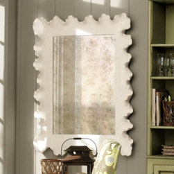 Atoll Mirror - I just about fell over when I saw this great big ruffled beauty from Ballard Designs. I swear I remember seeing a mirror just like this in a design magazine for about five times the price.