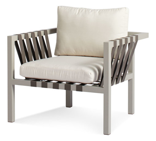 Blu Dot - Blu Dot Jibe Outdoor Lounge Chair, Grey / Sunbrella Canvas - You'll love al fresco living even more with this cool, comfy lounger. It boasts an anodized aluminum frame and antimicrobial foam done up in weather-resilient upholstery to bring casual elegance to your outdoor decor.
