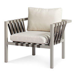 Jibe Outdoor Lounge Chair, Taupe