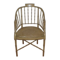 Baker Faux Bamboo Chair - $800 Est. Retail - $395 on Chairish.com -