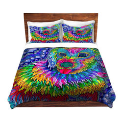 DiaNoche Designs - Duvet Cover Microfiber by Rachel Brown - Sunshine Daydream - Super lightweight and extremely soft Premium Microfiber Duvet Cover in sizes Twin, Queen, King.  This duvet is designed to wash upon arrival for maximum softness.   Each duvet starts by looming the fabric and cutting to the size ordered.  The Image is printed and your Duvet Cover is meticulously sewn together with ties in each corner and a hidden zip closure.  All in the USA!!  Poly top with a Cotton Poly underside.  Dye Sublimation printing permanently adheres the ink to the material for long life and durability. Printed top, cream colored bottom, Machine Washable, Product may vary slightly from image.