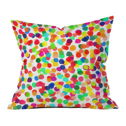 DENY Designs - Rebecca Allen A Celebration 1 Throw Pillow - Wanna transform a serious room into a fun, inviting space? Looking to complete a room full of solids with a unique print? Need to add a pop of color to your dull, lackluster space? Accomplish all of the above with one simple, yet powerful home accessory we like to call the DENY throw pillow collection! Custom printed in the USA for every order.
