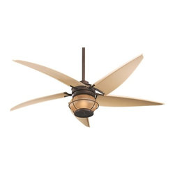 60-Inch Ceiling Fan with Five Blades and Light Kit -