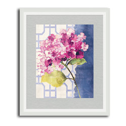 Antique Floral on White I