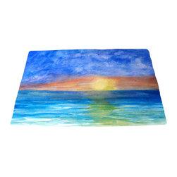 "xmarc - Beach Area Rugs, Ocean Sunset Beach, 96""W X 48""Tall - Ocean sunset beach plush area rug from my art."