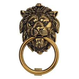 Bosetti Marella Brass Door Knocker, Antique Brass - Admit it, you love it. I would probably add a little color to the ring just to make it even more fun.