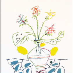 Amanti Art - Vase with Flowers Framed Print by Pablo Picasso - Pablo Picasso's imagination and artistic prowess emerged in his youth, shaping him into a legendary painter and sculptor, and one of the most celebrated artists of the twentieth century.