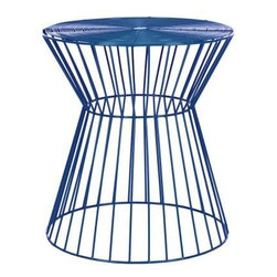 Safavieh - Adele Iron Wire Stool - Dark Blue - The chic, clean lines of the Adele iron wire stool are crafted from iron and finished in sleek dark blue for a soft modern look. Solid and sexy, this versatile stool is as welcoming to a wine glass as it is to your extra guests lacking a seat. Use this transitional piece as a sculptural accent in the living room, bedroom or den.