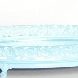 Vintage Mirror Vanity Tray in Ocean Blue - Eco-Friendly Home Decor Ideas!
