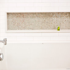 Midcentury Bathroom by Redbud Custom Homes