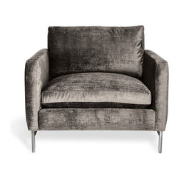 Cobble Hill Nolita Chair, Charcoal - This is my favorite chair in the bunch! I love the shape and the luxe velvet fabric.