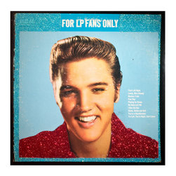"glittered Elvis Presley For LP Fans Only Album - Glittered record album. Album is framed in a black 12x12"" square frame with front and back cover and clips holding the record in place on the back. Album covers are original vintage covers."