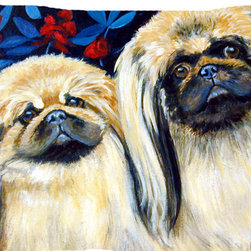 Caroline's Treasures - What A Pair Of Pekingese Fabric Standard Pillowcase Moisture Wicking Material - Standard White on back with artwork on the front of the pillowcase, 20.5 in w x 30 in. Nice jersy knit Moisture wicking material that wicks the moisture away from the head like a sports fabric (similar to Nike or Under Armour), breathable performance fabric makes for a nice sleeping experience and shows quality.  Wash cold and dry medium.  Fabric even gets softer as you wash it.  No ironing required.